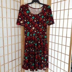 NWT LuLaRoe Nicole Geometric Print Dress Sz XL